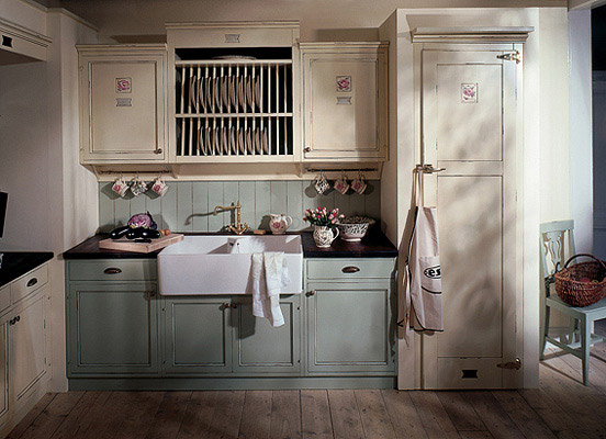 British Stoves Rutherford Rose Landhauskuche Handgebaute Englische
